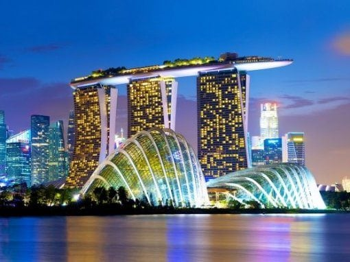 الحديقة السماوية فى سنغافورة