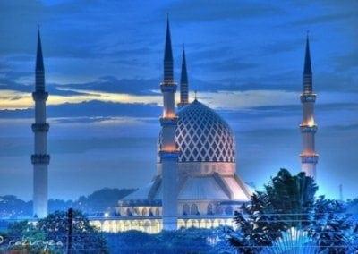 المسجد الأزرق في ولاية سيلانجور في ماليزيا