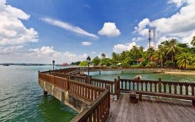 جزيرة بولاو اوبين فى سنغافورة