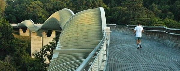 جسر هندرسون المموج فى سنغافورة