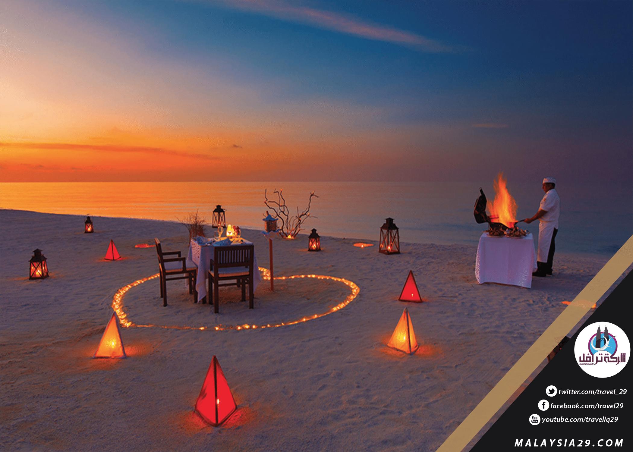 Romantic ambiance in the Maldives 2018