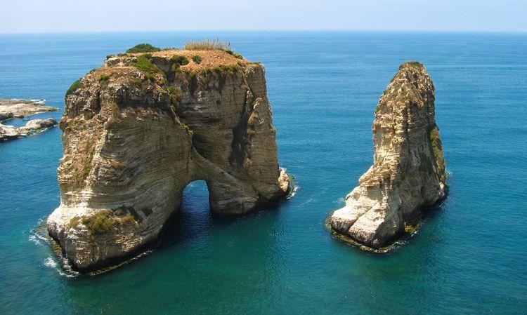 صخره الروشه فى بيروت