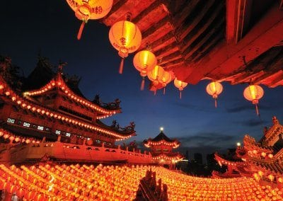 Paper Lanterns at Thean Hou Temple