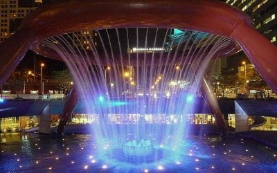 Fountain of revolutions in Singapore