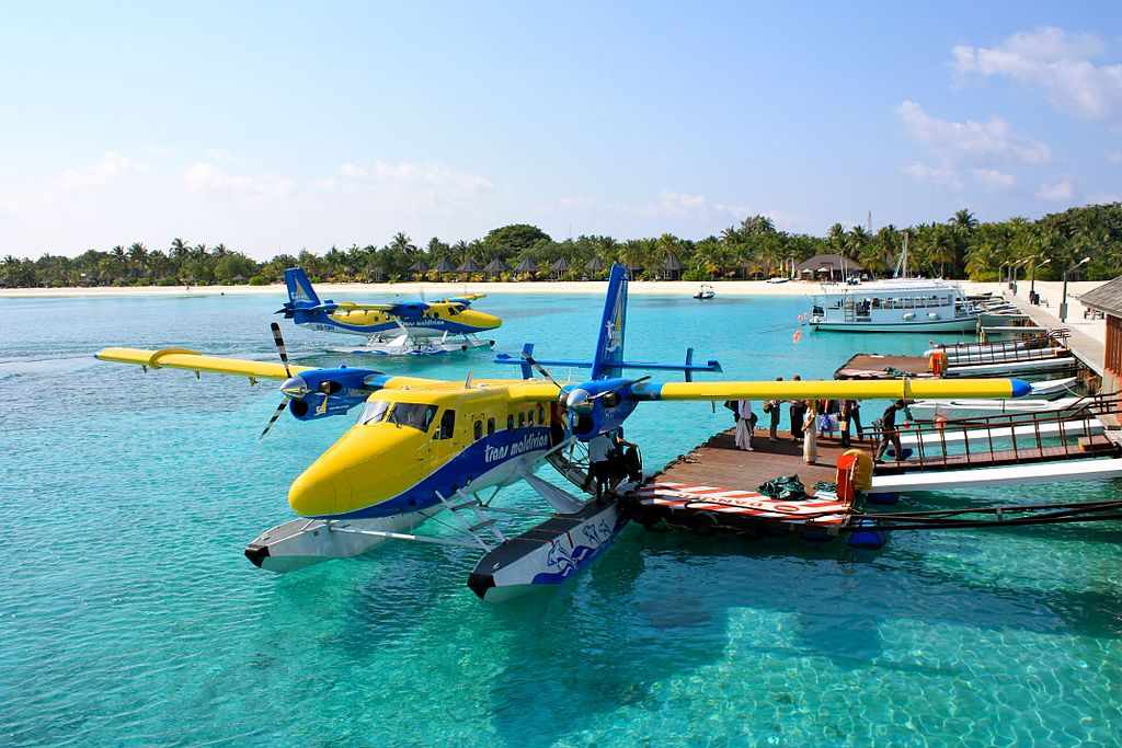 مغامرة الطائرة المائية في المالديف