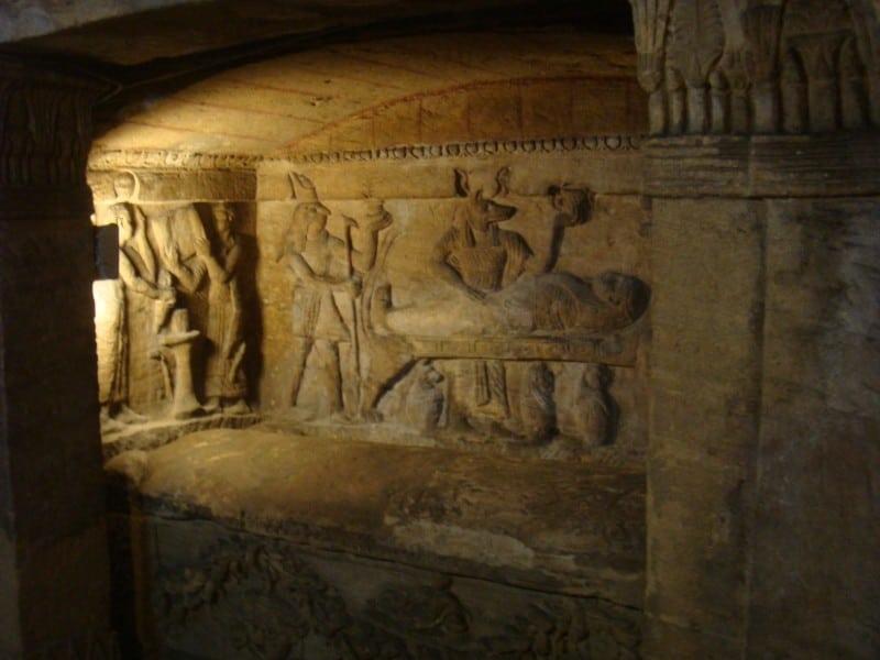 مقابر كوم شقافة مصر
