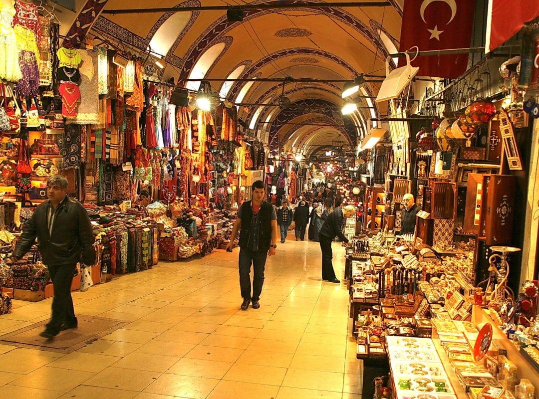 السوق المغطي باسطنبول