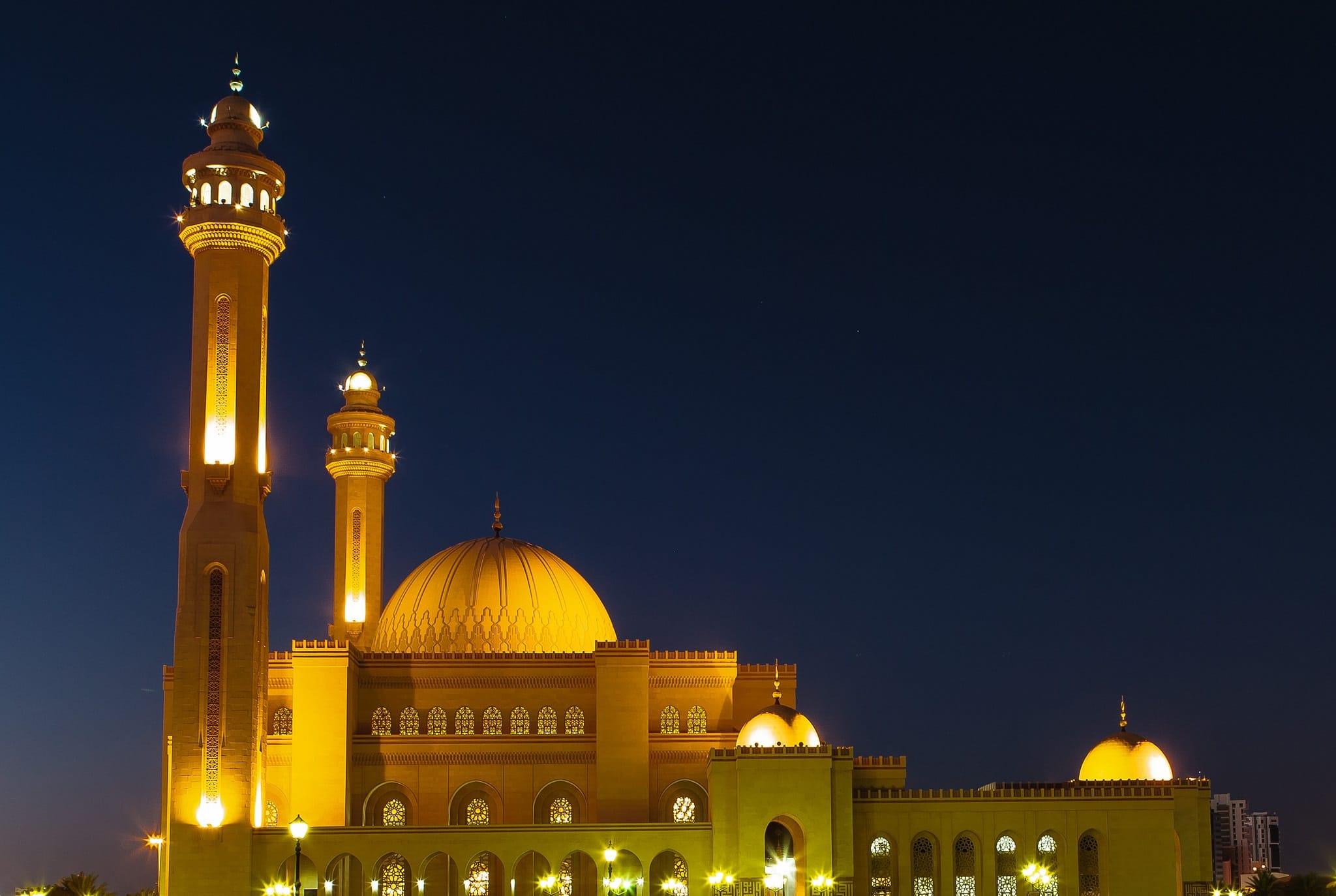 روعه وجمال مسجد الفاتح في البحرين