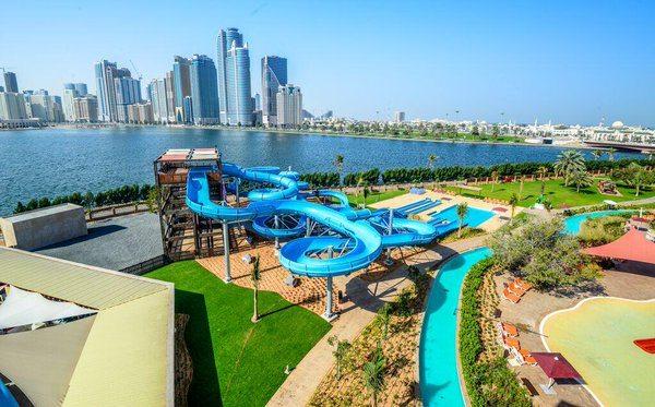 أنشطة في الحديقة المائية الشارقة الامارات