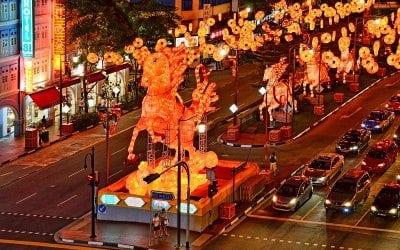 Quartier chinois à Singapour