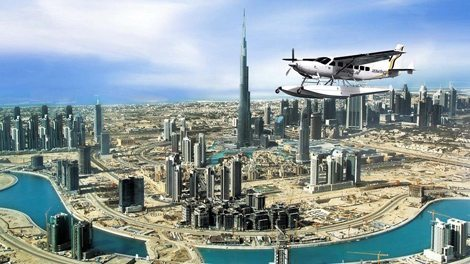 رحلة جوية على متن طائرة بحرية في دبي