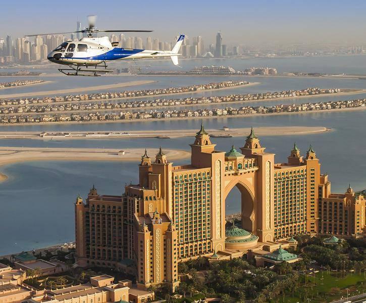 أفضل جولات بالمروحية حول دبي