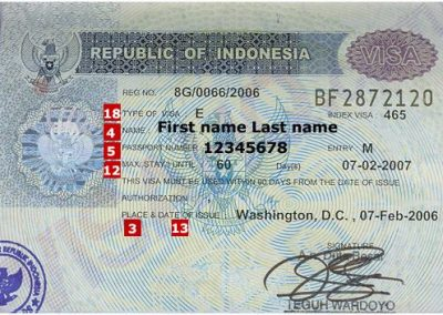 اجراءات دخول اندونيسيا