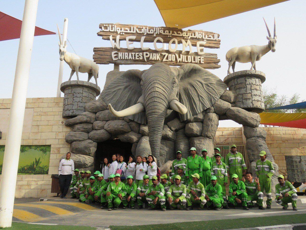 أنشطة في حديقة حيوانات أبوظبي الامارات