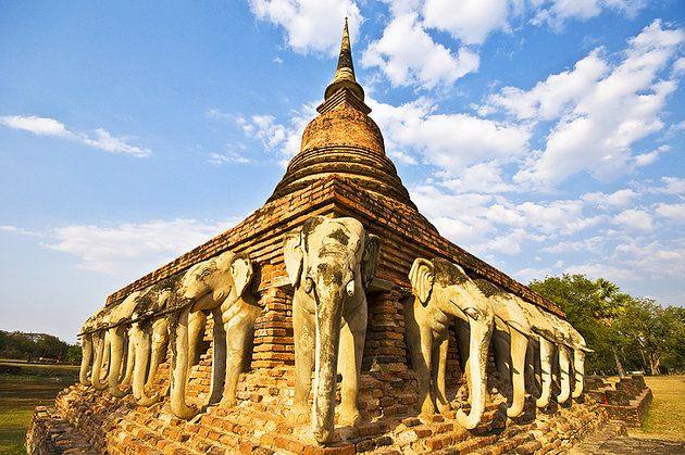 المعابد القديمة في مملكة سيكوثاني فى تايلاند