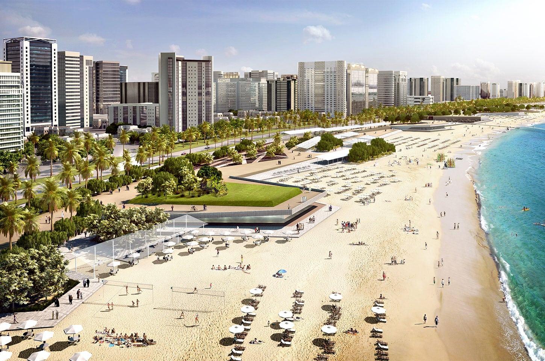 شاطئ ابوظبى الامارات