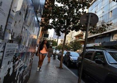 شارع الحمرا بيروت من الشوارع السياحية الشهيره التى توجد فى لبنان