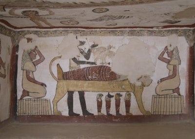 جوله حول مقبرة پيتوزيريس تونه الجبل مصر