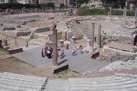 المسرح الروماني بالاسكندرية مصر
