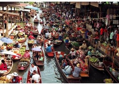 رحلة السوق العائم وسامفران والروز جاردين