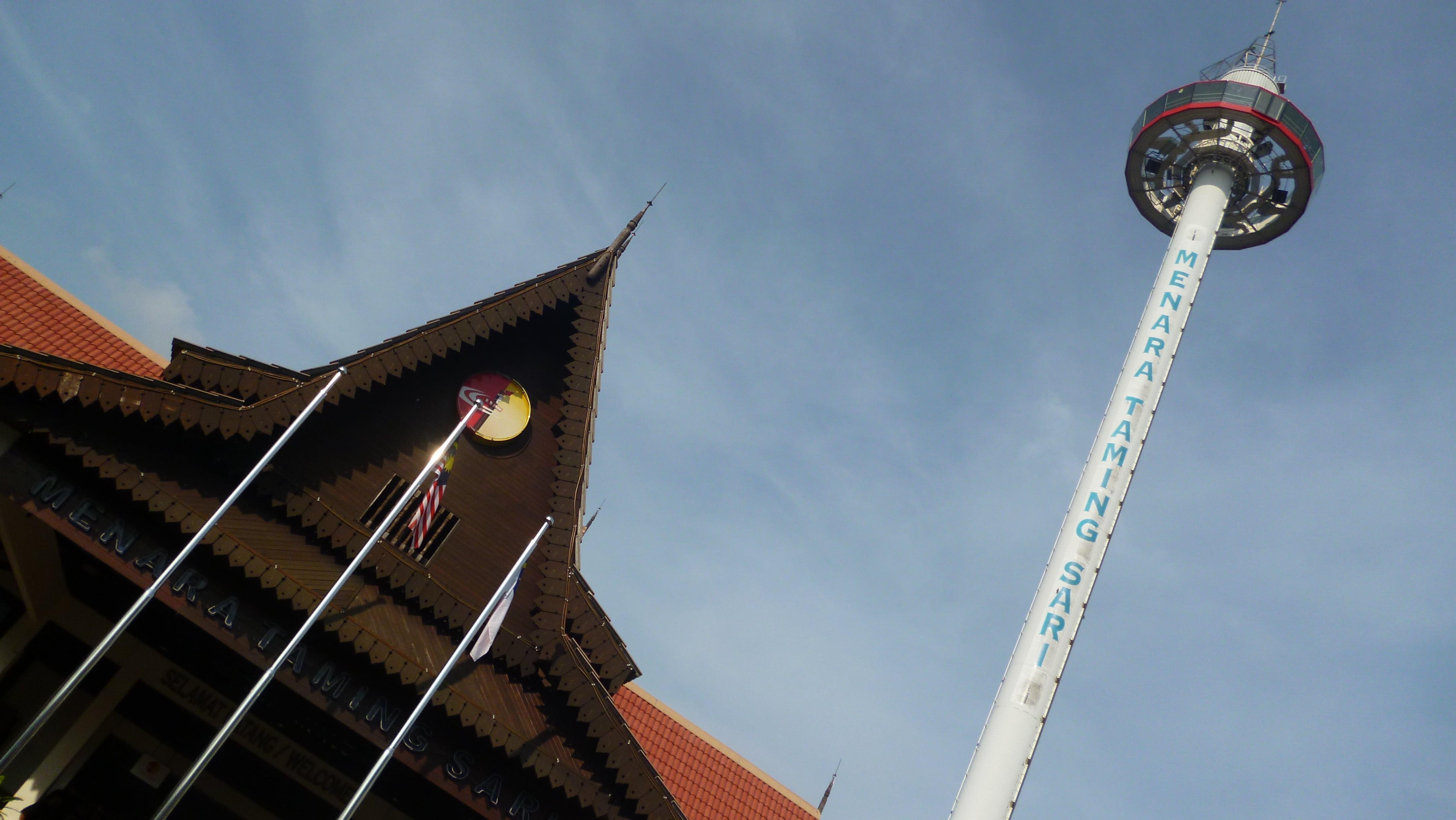 Malacca Malezya'daki Tamang Sari Deniz Feneri