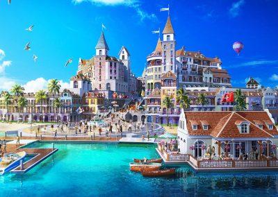 جزيرة سان بطرسبورغ في دبي